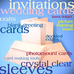 invitations, wedding cards, blank cards, deckled edges, crystal clear sleeves